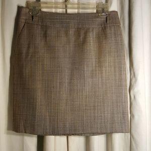 Ann Taylor light brown tweed skirt